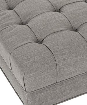 Safavieh Mercer Collection Clark Cocktail Ottoman Charcoal Brown 0 2 300x360