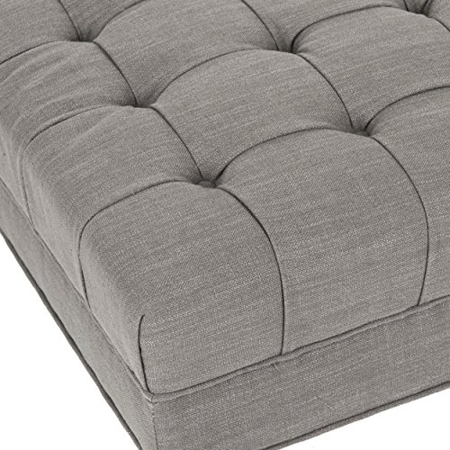 Safavieh Mercer Collection Clark Cocktail Ottoman Charcoal Brown 0 2