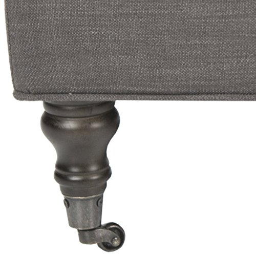 Safavieh Mercer Collection Clark Cocktail Ottoman Charcoal Brown 0 3