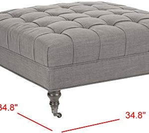 Safavieh Mercer Collection Clark Cocktail Ottoman Charcoal Brown 0 4 300x268
