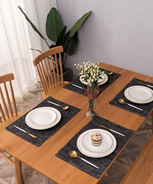 Spring Garden Home Black And White Placemats For Dining Tables Farmhouse Decoraitve Washable Cloth Placemats For Kitchen And Parties 13 X 19 Inches Set Of 4 0 1 300x360