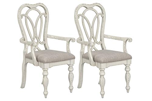 Standard Furniture Giovanni Arm Dining Chair White 0