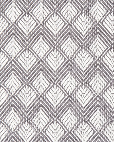 Sticky Toffee Cotton Woven Placemat Set With Fringe Scalloped Diamond 4 Pack Gray 14 In X 19 In 0 4