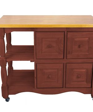 Sunset Trading Oak Selections Kitchen Cart