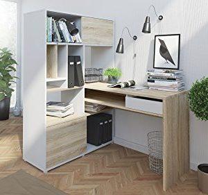 Tvilum Weston 1 Drawer 2 Sliding Door Desk WhiteOak Structure 0 1 300x281