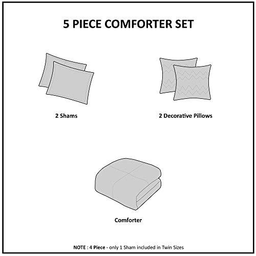 Urban Habitat Paloma Cotton Comforter Set FullQueen Grey 0 3