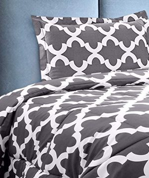 Utopia Bedding Printed Comforter Set Full Grey With 2 Pillow Shams Luxurious Brushed Microfiber Down Alternative Comforter Soft And Comfortable Machine Washable 0 1 300x360
