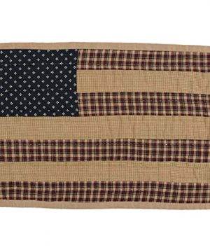 VHC Brands Americana Primitive Tabletop Kitchen Patriotic Patch Quilted Placemat Set Of 6 12 X 18 Deep Red 0 0 300x360