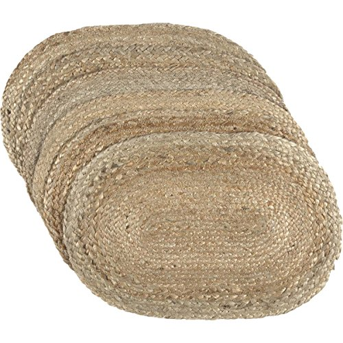 VHC Brands Coastal Farmhouse Tabletop Kitchen Jute Placemat Set Of 6 12 X 18 Natural Tan 0