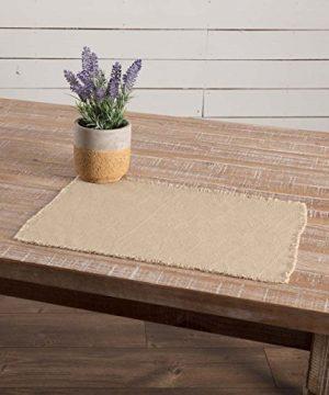 VHC Brands Farmhouse Holiday Tabletop Kitchen Burlap Vintage White Table Dcor Placemat Set 12x18 Beige 0 0 300x360