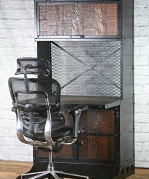 Vintage Industrial DeskWorkstation Rustic Reclaimed Wood Computer Desk Reclaimed Wood Desk Office Desk With Hutch Office Work Station 0 300x360