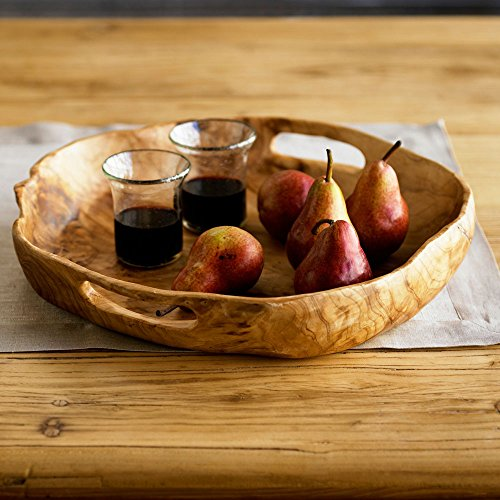 Vivaterra Rustic Root Of The Earth Serving Tray 3 H X 16 Diameter 0 2