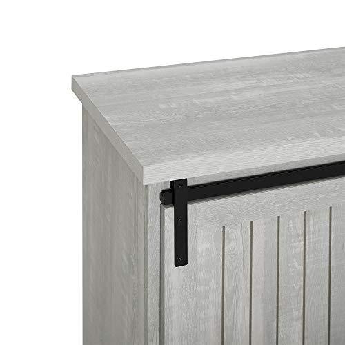 WE Furniture Modern Farmhouse Buffet Entryway Bar Cabinet Storage 32 Inch Grey 0 1