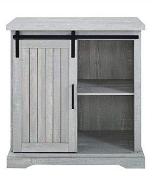 WE Furniture Modern Farmhouse Buffet Entryway Bar Cabinet Storage 32 Inch Grey 0 2 300x360