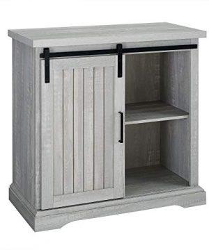 WE Furniture Modern Farmhouse Buffet Entryway Bar Cabinet Storage 32 Inch Grey 0 3 300x360