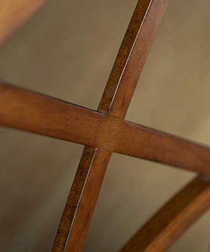 Walker Edison Solid Wood Farmhouse Dining Chairs X Back Armless Kitchen Chairs Set Of 2 Brown 0 1 300x360