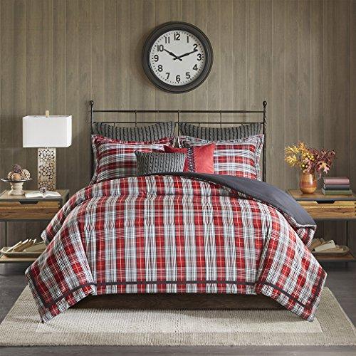 Woolrich Williamsport Plaid Comforter Set Red Queen 0 1