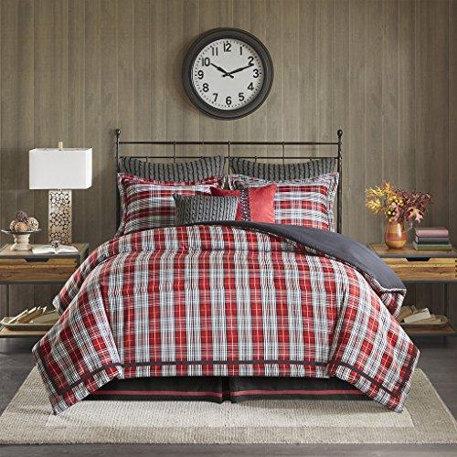 Woolrich Williamsport Plaid Comforter Set Red Queen 0