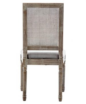ZHENGHAO French Country Rectangle Cane Back Dining Chairs Set Of 2 Farmhouse Retro Kitchen Chairs Distressed Wood ChairsCream 0 2 300x360