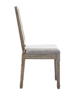 ZHENGHAO French Country Rectangle Cane Back Dining Chairs Set Of 2 Farmhouse Retro Kitchen Chairs Distressed Wood ChairsCream 0 3 300x360