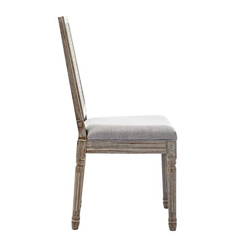 ZHENGHAO French Country Rectangle Cane Back Dining Chairs Set Of 2 Farmhouse Retro Kitchen Chairs Distressed Wood ChairsCream 0 3