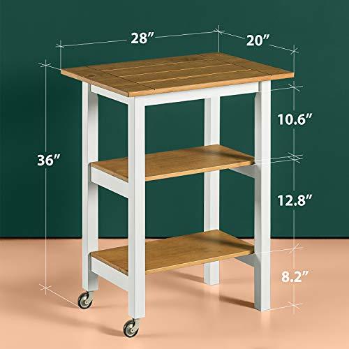 Zinus Becky Farmhouse Kitchen Cart 0 0