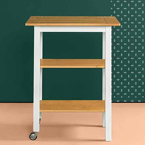 Zinus Becky Farmhouse Kitchen Cart 0 1