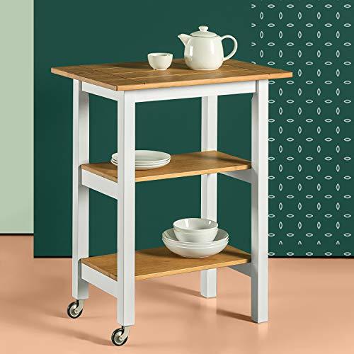 Zinus Becky Farmhouse Kitchen Cart 0