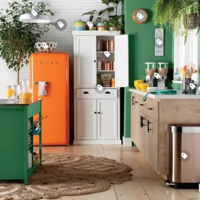 colorful farmhouse kitchen 10