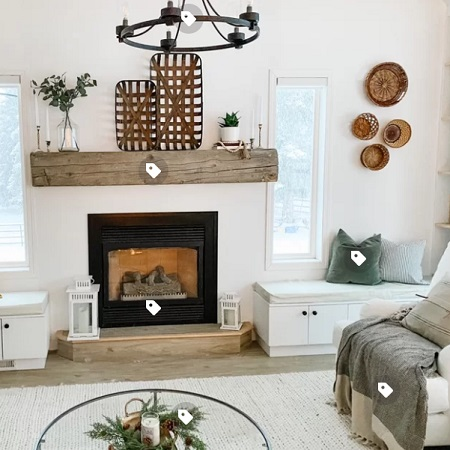 farmhouse living room furniture idea 1