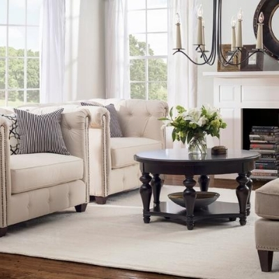 farmhouse rustic living room 7