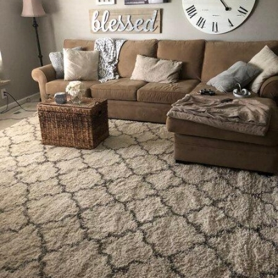 farmhouse themed living room 14