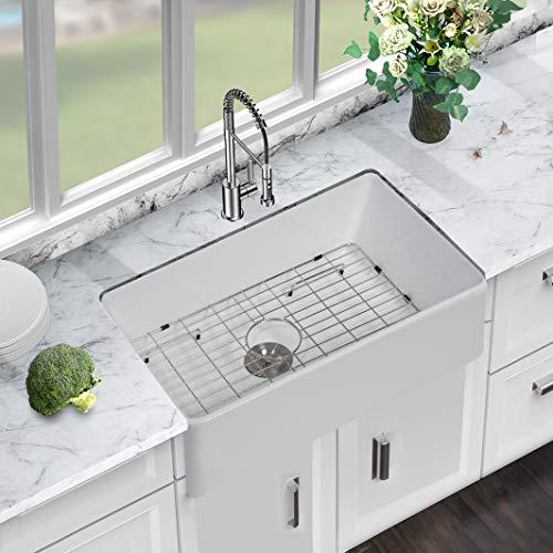 33 Farmhouse Sink White Sarlai 33 Inch Kitchen Sink Apron Front Ceramic Porcelain Vitreous Fireclay Single Bowl Farmer Farmhouse Goals