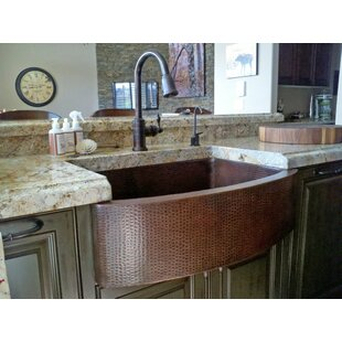 33+L+x+24+W+Hammered+Apron+Kitchen+Sink+with+Faucet