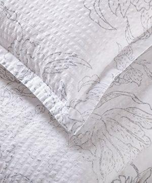 Amazon Brand Stone Beam Farmhouse Distressed Seersucker Duvet Cover Set Full Queen White And Blue 0 0 300x360