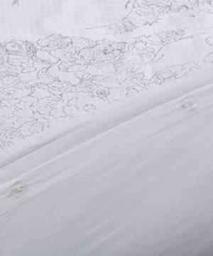 Amazon Brand Stone Beam Farmhouse Distressed Seersucker Duvet Cover Set Full Queen White And Blue 0 3 300x360