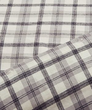 Amazon Brand Stone Beam Rustic Plaid Flannel Duvet Cover Set Full Queen Black And White 0 2 300x360