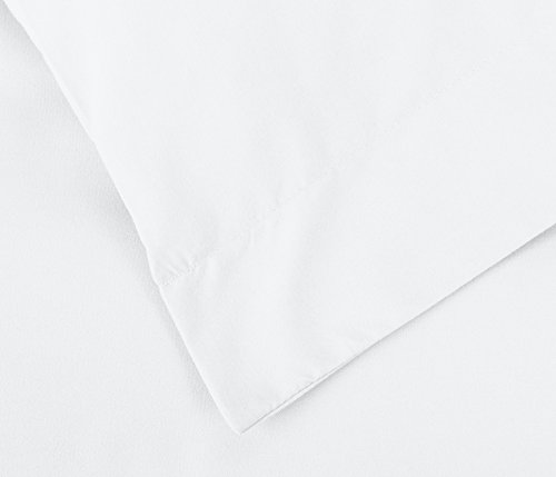 AmazonBasics Light Weight Microfiber Duvet Cover Set With Snap Buttons FullQueen Bright White 0 3