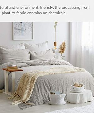 Bedsure 5545 Linen Cotton Duvet Cover Set Twin Size Greige Soft Breathable Comforter Cover Set 2 Piece Lightweight Bedding Sets Idea For Summer 0 0 300x360