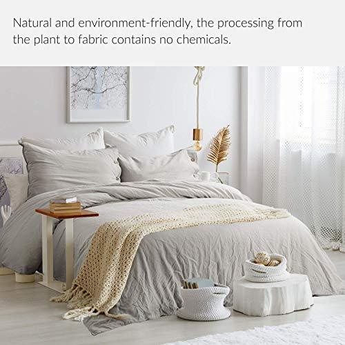 Bedsure 5545 Linen Cotton Duvet Cover Set Twin Size Greige Soft Breathable Comforter Cover Set 2 Piece Lightweight Bedding Sets Idea For Summer 0 0