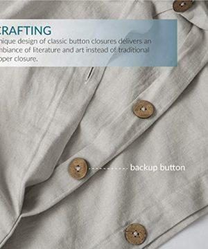 Bedsure 5545 Linen Cotton Duvet Cover Set Twin Size Greige Soft Breathable Comforter Cover Set 2 Piece Lightweight Bedding Sets Idea For Summer 0 2 300x360