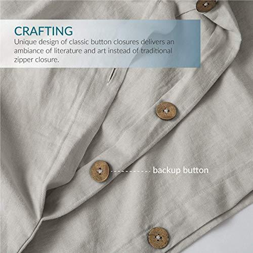 Bedsure 5545 Linen Cotton Duvet Cover Set Twin Size Greige Soft Breathable Comforter Cover Set 2 Piece Lightweight Bedding Sets Idea For Summer 0 2