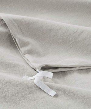 Bedsure 5545 Linen Cotton Duvet Cover Set Twin Size Greige Soft Breathable Comforter Cover Set 2 Piece Lightweight Bedding Sets Idea For Summer 0 4 300x360