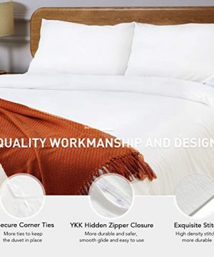 CO Z 100 Washed Cotton Duvet Cover 2 Pieces Bedding Sets Solid Color Ivory White TwinTwin XL Size 68x90 Inches Modern Simple Style Ultra Soft Breathable Comforter Cover With Zipper Closure 0 1 300x360