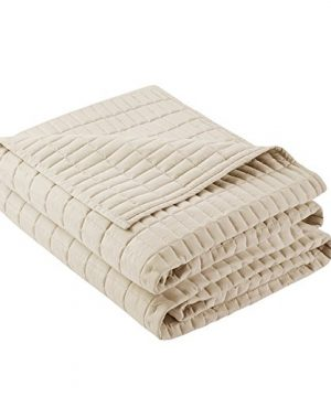 Comfort Spaces Kienna Quilt Coverlet Bedspread Ultra Soft Hypoallergenic All Season Lightweight Filling Stitched Bedding Set FullQueen 90x90 Ivory 3 Piece 0 1 300x360