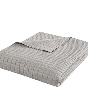 Comfort Spaces Kienna Quilt Coverlet Bedspread Ultra Soft Hypoallergenic All Season Lightweight Filling Stitched Bedding Set Oversized King 120x118 Gray 3 Piece 0 2 300x360