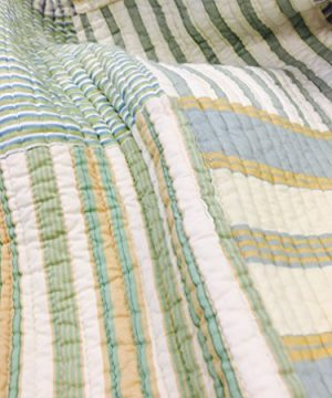 Cozy Line Home Fashions Sienna Green Yellow Blue Plaid Striped Patchwork 100 Cotton Reversible Coverlet Bedspread Quilt Bedding Set For Women MenGreen Patchwork Twin 2 Piece 0 1 300x360