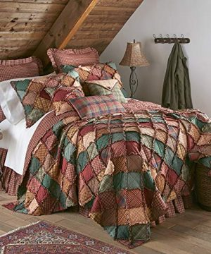 Donna Sharp Twin Bedding Set 2 Piece Campfire Lodge Quilt Set With Twin Quilt And One Standard Pillow Sham Machine Washable 0 300x360