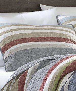 Eddie Bauer Salmon Ladder Collection 100 Cotton Reversible Light Weight Quilt Bedspread With Matching Sham 2 Piece Bedding Set Pre Washed For Extra Comfort Twin Natural 0 0 300x360