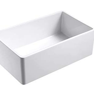 Empire Industries OL27G Olde London Reversible Farmhouse Fireclay Kitchen Sink With Grid And Strainer White 0 0 300x291